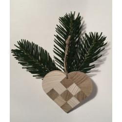 Julehjerte i træ (lille model)