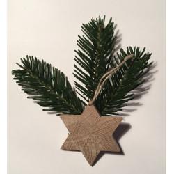 Stjerne af egetræ